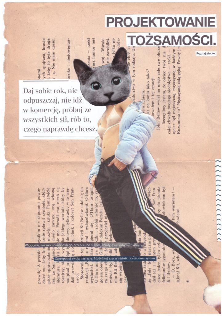 Kolaż: projektowanie tożsamości by Weronika Zimna